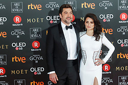 MADRID, SPAIN- February 03: Penelope Cruz at the Goya cinema awards at the Marriot Hotel in Madrid ,Spain February 3, 2018. ***NO SPAIN*** CAP/MPI/RJP ©RJP/MPI/Capital Pictures. 04 Feb 2018 Pictured: Penelope Cruz and Javier Bardem. Photo credit: RJP/MPI/Capital Pictures / MEGA TheMegaAgency.com +1 888 505 6342
