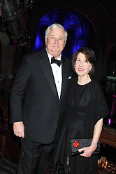 The U.S. Ambassador LOUIS B SUSMAN and his wife MARJORIE at the Red & Black Valentine's Dinner & Dance in aid of The Eve Appeal at One Mayfair, North Audley Street, London W1 on 14th February 2013.