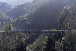 March 16, 2019 - Col De Turini, France - General view of the peloton during stage 7 of the 2019 Paris - Nice cycling race with start in Nice and finish in Col de Turini  on March 16, 2019 in Col De Turini, France, (Credit Image: © Panoramic via ZUMA Press)