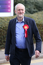 © Licensed to London News Pictures. 06/05/2016. Sheffield, UK.  Labour leader Jeremy Corbyn visits Sheffield in South Yorkshire to congratulate Gill Furniss on her victory in the Sheffield Brightside and Hillsborough by-election. The by-election was triggered after the death of Labour MP Harry Harpham in February. In other elections around the country Labour held it's ground in England and didn't do as badly as was predicted in the local council elections.  Photo credit : Ian Hinchliffe/LNP