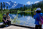 NW Washington state Cascades, Mt. Shuksan, family picture