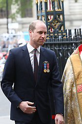 May 3, 2019 - London, London, United Kingdom - Image licensed to i-Images Picture Agency. 03/05/2019. London, United . The Duke of Cambridge arriving for a service  to recognise fifty years of continuous deterrent at sea at Westminster Abbey in London. (Credit Image: © Stephen Lock/i-Images via ZUMA Press)