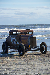 Pete Flavin in his 1931 Ford Model A Coupe from Massachusettes at the Race of Gentlemen. Wildwood, NJ, USA. October 10, 2015.  Photography ©2015 Michael Lichter.