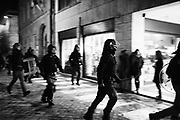 Italian anti-riot policemen during an unauthorised demonstration of Italian far-right political party Forza Nuova, in support of young girl found dead in the central Italian town of Macerata last week. A drive-by attack wounded several African migrants on February 4, a day after a Nigerian asylum-seeker and drug dealer was arrested in the same town for the murder of an 18-year-old woman. Macerata 8 Fabraury 2018. Christian Mantuano / OneShot