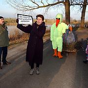 Actie Milieudefensie tegen aanleg A6 door het Gein Abcoude