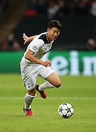 Tottenham's Heung-Min Son in action during the Champions League group match at Wembley Stadium, London. Picture date December 7th, 2016 Pic David Klein/Sportimage