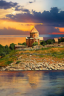 10th century Armenian Orthodox Cathedral of the Holy Cross on Akdamar Island, Lake Van Turkey 50 .<br /> <br /> If you prefer to buy from our ALAMY PHOTO LIBRARY  Collection visit : https://www.alamy.com/portfolio/paul-williams-funkystock/lakevanturkey.html<br /> <br /> Visit our TURKEY PHOTO COLLECTIONS for more photos to download or buy as wall art prints https://funkystock.photoshelter.com/gallery-collection/3f-Pictures-of-Turkey-Turkey-Photos-Images-Fotos/C0000U.hJWkZxAbg