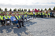 NO FEE PICTURES<br />13/7/18 Irish Life has formally broken ground on its new Customer Centre in Dundalk, Co Louth. The building has been designed by leading Dublin based architects, wejchert Architects and is being delivered by main contractor Stewart Construction. The new site area is 1.6 hectares with an office size of 45,000 sq ft. It is expected that over 200 construction workers will be on site during the construction phase of the project, which will be a significant boost to local employment in the Dundalk Area. Picture :Arthur Carron