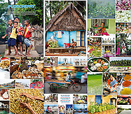 Montage of images from a commisioned shoot in Puducherry India for Food and Travel magazine (UK).