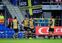 CELE - Sheffield Wednesday's Gary Hooper celebrates scoring the opening goal <br /> <br /> Photographer Ashley Crowden/CameraSport<br /> <br /> The EFL Sky Bet Championship - Cardiff City v Sheffield Wednesday - Saturday 16th September 2017 - Cardiff City Stadium - Cardiff<br /> <br /> World Copyright © 2017 CameraSport. All rights reserved. 43 Linden Ave. Countesthorpe. Leicester. England. LE8 5PG - Tel: +44 (0) 116 277 4147 - admin@camerasport.com - www.camerasport.com