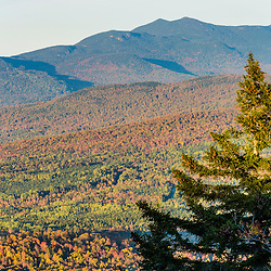 The Bigelow Range as seen from Reddington Township, Maine in fall. High Peaks Region.