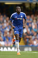 Kurt Zouma of Chelsea in action. Barclays Premier League, Chelsea v Crystal Palace at Stamford Bridge in London on Saturday 29th August 2015.<br /> pic by John Patrick Fletcher, Andrew Orchard sports photography.