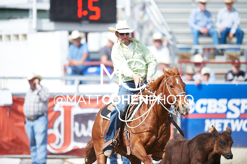 Tie-down roper J.C. Malone of Roy, UT competes at the Redding Rodeo in Redding, CA<br /> <br /> <br /> UNEDITED LOW-RES PREVIEW<br /> <br /> <br /> File shown may be an unedited low resolution version used as a proof only. All prints are 100% guaranteed for quality. Sizes 8x10+ come with a version for personal social media. I am currently not selling downloads for commercial/brand use.