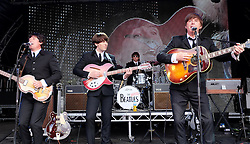 Party At The Palace, Linlithgow, Scotland, Saturday 13th August 2016<br /> <br /> The Bootleg Beatles perform on the main stage<br /> <br /> (c) Alex Todd | Edinburgh Elite media