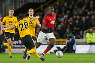 Manchester United Midfielder Paul Pogba battles with Wolverhampton Wanderers midfielder Joao Moutinho (28) during the The FA Cup match between Wolverhampton Wanderers and Manchester United at Molineux, Wolverhampton, England on 16 March 2019.