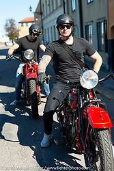Jakob and Max Rutkvist's got their 1930 Indian Chieftain and Scout from their grandfather who had a large collection of bikes he restored himself. Stockholm, Sweden. Friday, May 31, 2019. Photography ©2019 Michael Lichter.