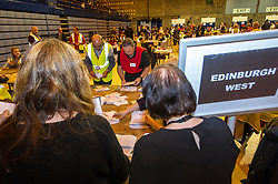Pictured: A heavy police presence was on view at the Edinburgh Count with armed officers patrolling the counting halls.  The count of the postal votes continues<br /> <br /> <br /> <br /> Ger Harley   EEm 9 June 2017