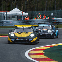 #56 Project 1 followed by #77 Proton Dempsey at FIA WEC Spa 6h 2019 on 04.05.2019 at Circuit de Spa-Francorchamps, Belgium