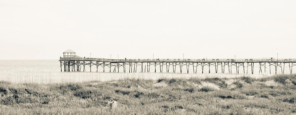 B&W photograph of North Carolina beach pier