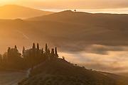 A misty dawn in Tuscany.