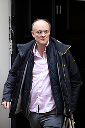© Licensed to London News Pictures. 29/10/2019. London, UK. Special Advisor to the Prime Minister Dominic Cummings leaves Downing Street .  Photo credit: George Cracknell Wright/LNP