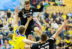 Nejc Cehte of RK Gorenje during handball match between RK Celje Pivovarna Lasko and RK Gorenje Velenje in Eighth Final Round of Slovenian Cup 2015/16, on December 10, 2015 in Arena Zlatorog, Celje, Slovenia. Photo by Vid Ponikvar / Sportida