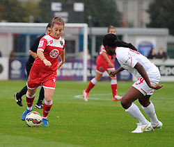 Christie Murray of Bristol Academy Women faces Satara Murray of Liverpool Ladies - Mandatory by-line: Paul Knight/JMP - Mobile: 07966 386802 - 04/10/2015 -  FOOTBALL - Stoke Gifford Stadium - Bristol, England -  Bristol Academy Women v Liverpool Ladies FC - FA Women's Super League