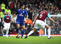 Photo: Karyn Haddon/Sportsbeat Images.<br />West Ham United v Everton. The FA Barclays Premiership. 15/12/2007.<br />Mikel Arteta on the ball for Everton