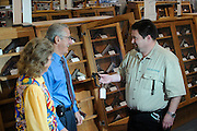 Customers and employees inside H&H Gun Range in Oklahoma City.  All photos model released