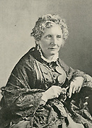 'Harriet Beecher Stowe  (1811-1896) American abolitionist and author of ''Uncle Tom's Cabin'' 1851-1852, a novel strongly infuenced by the writer's anti-slavery views..'