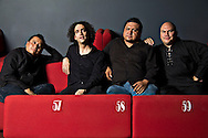 Members of the mexican musical ensemble Meia Da Shonta, Juan Pablo Villa, Mardonio Carballo, Fernando Vigueras and Francisco Bringas. June 20, 2011, Foro del Tejedor, Distrito Federal, Mexico