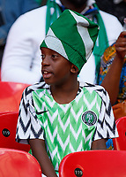 Football - 2018 International Friendly (pre-World Cup warm-up) - England vs. Nigeria<br /> <br /> Nigeria fan before kick off at Wembley Stadium.<br /> <br /> COLORSPORT/DANIEL BEARHAM