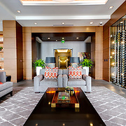 Club Room area at One Light Tower, new-build residential highrise in downtown Kansas City, Missouri - completed in 2015.