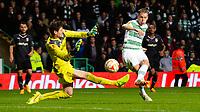 23/10/14 UEFA EUROPA LEAGUE<br /> CELTIC v FC ASTRA GIURGIU<br /> CELTIC PARK - GLASGOW<br /> Celtic's Stefan Johansen (right) slots home his side's second goal of the game
