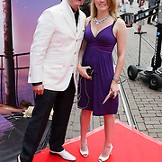 NLD/Amsterdam/20080716 - Premiere Wall-E, Rene Mioch met dochter Lisa