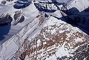 Summit Chomolungma, Mt Everest & upper North Face/North Ridge & SW Face, Tibet & Nepal, Himalaya. Photo: Dick & Pip Smith