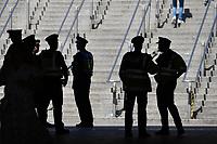 Football - 2021 EUFA European Championships - Finals - Group D - England vs Croatia, Wembley Stadium<br /> <br /> Police at Wembley park station.<br /> <br /> COLORSPORT/ASHLEY WESTERN