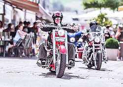 27.06.2019, Schladming, AUT, Rock the Roof 2019, im Bild Motorrad Fahrer // Bike during the Rock the Roof Biker Meeting in Schladming, Austria on 2019/06/27. EXPA Pictures © 2019, PhotoCredit: EXPA/ JFK