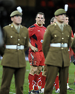 a dejected looking Wales player  Gethin Jenkins looks on at end of game. Autumn International rugby, 2013 Dove men series, Wales v South Africa at the Millennium Stadium in Cardiff,  South Wales on Saturday 9th November 2013. pic by Andrew Orchard, Andrew Orchard sports photography,
