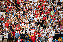 July 7, 2018 - Samara, RUSSIA - 180707 Fans of England during the FIFA World Cup quarter final match between Sweden and England on July 7, 2018 in Samara..Photo: Joel Marklund / BILDBYRÃ…N / kod JM / 87755 (Credit Image: © Joel Marklund/Bildbyran via ZUMA Press)
