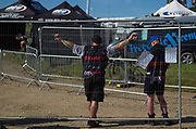 Security at Matterley Basin was present, but courteous and polite. No police, no military. No raging parties until 4:00 AM like in East Germany. Orderly, even.