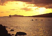 Outrigger Sailing Canoe, Hawaii Kai, Oahu, Hawaii<br />