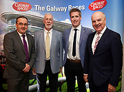25/09/2018 Repro free: Noel O'Grady, Lydon House, John and Andrew Sherry, Lydon house and Anthony Ryan  at the launch of Galway Racecourse  details of their new and exciting three-day October Festival that takes place over the Bank Holiday weekend, Saturday 27th, Sunday 28th and Monday 29th continuing racing and glamour into the Autumn.<br />   Each of the three race days offers something for all the family to enjoy, with a special theme attached to each day, together with fantastic horse racing, live music, delicious hospitality, entertainment and of course the meeting of old friends and new at Ballybrit.  <br /> Halloween Family Fun <br /> On Saturday 27th October come along with your children and grand children and enjoy the 'Spooktacular' Halloween themed family fun day with lots of entertainment including a fancy-dress competition, Halloween games and face painting to mention but a few!! All weekend children under 16 years of age have free admission. <br /> Race in Pink <br /> As part of this new October Festival and with-it being Breast Cancer Awareness month, Galway Racecourse have partnered with The National Breast Cancer Research Institute to host a dedicated fundraiser on Sunday 28th October called 'Race in Pink'.  <br /> <br /> Student Race Day in aid of the Voluntary Services Abroad <br /> Monday sees the return of our annual 'Student Race Day' in conjunction with the Voluntary Services Abroad (a medical aid charity run by the fourth-year medical students of NUI, Galway), and the NUIG Rugby Club.  Each year, this fundraising day for the student organisations raises a tremendous amount of money for their chosen projects including the VSA annual summer volunteer trip to Africa where they use the funds raised to help projects at the hospitals they visit. <br />  National hunt racing on Saturday kicks off at 2.05pm with racing Sunday and Monday off at 1.05pm. Adult admission on all three days is €15 with children under 16 years of age, free. For more informa
