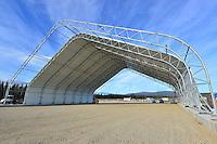 Hangar under construction