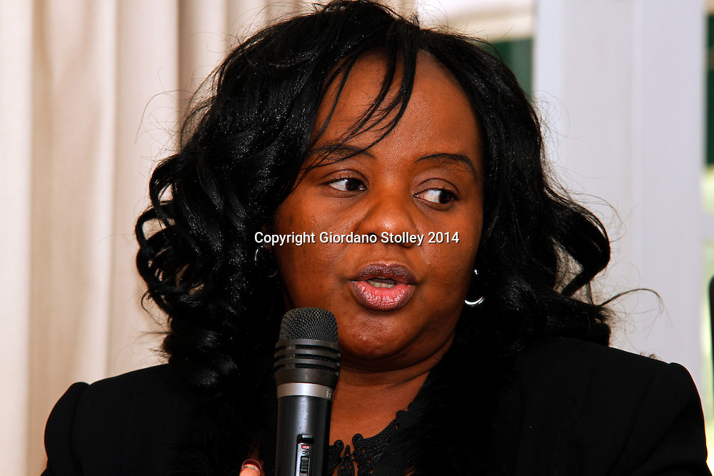 DURBAN -  Nomsa Modise,  project manager of South African National Roads Agency Limited (Sanral) Incident Management System speaks at a press conference where it was announced that KwaZulu-Natal is set to have electronic tolling on the N2 and the N3 by November. Picture: Allied Picture Press/APP