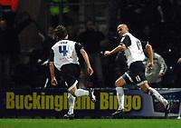 Photo: Paul Greenwood.<br />Preston North End v Norwich City. Coca Cola Championship. 20/02/2007. Preston's Danny Dichio, right, celebrate scoring the opening goal
