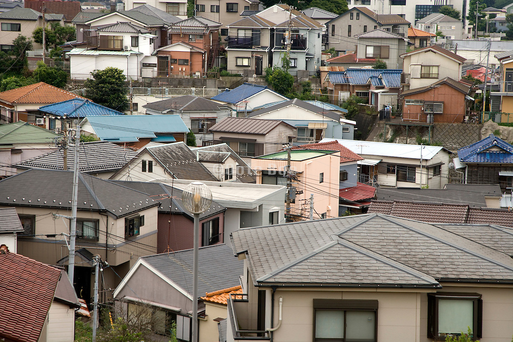 overhead view of a urban housing environment Asia Japan
