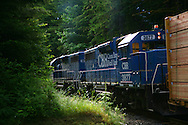 Coos Bay Rail, going uphill.