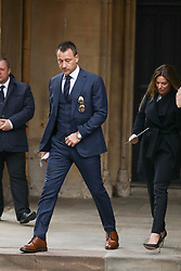 Departures from Ray Wilkins memorial service at St Mary's church Chelsea<br /><br />1 May 2018.<br /><br />Please byline: Vantagenews.com