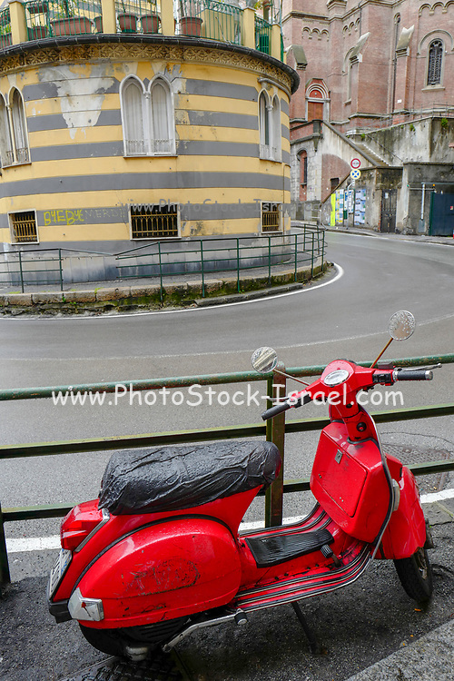 Red Vintage Vespa motorbike